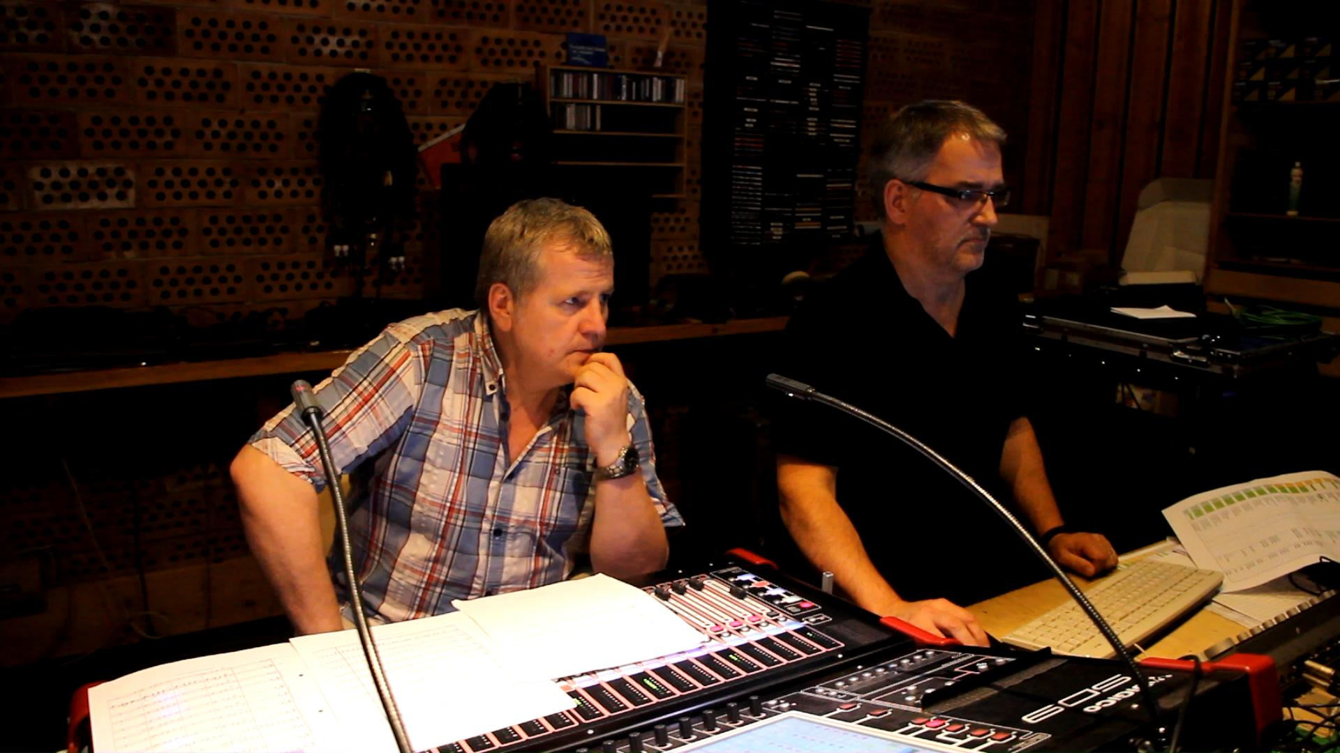 Joachim Moser und Georg Hrauda im Studio in Gettsdorf, Album 2015
